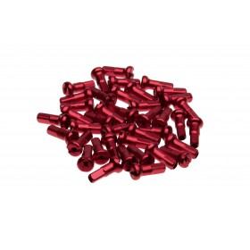 Ecrous de rayon WHEELSMITH Aluminium 15G Rouge 12 mm (par 50)