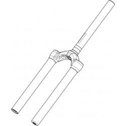 Pivot/Té/Plongeurs MANITOU Circus Comp 80/100 mm Blanc Aluminium