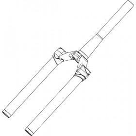 Pivot/Té/Plongeurs MANITOU Minute 27.5 130/140 Noir Mat 1.5T