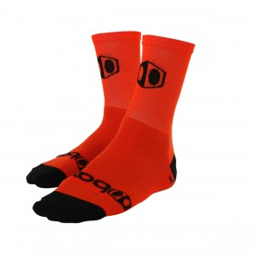 Chaussettes BOX COMPONENTS Racing bright orange and black logo Taille S