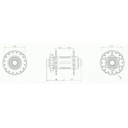 Moyeu HXR COMPONENTS Avant 100x15 mm 32T Violet