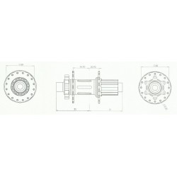 Moyeu HXR COMPONENTS Easy Shift Arrière 142/148x12 mm XD Rouge