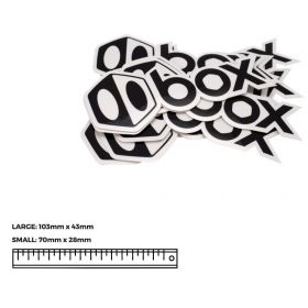 BOX COMPONENTS Sticker Icon & Text large